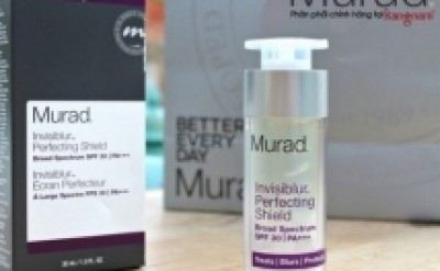 Review kem dưỡng chống nắng trong suốt Invisiblur Murad
