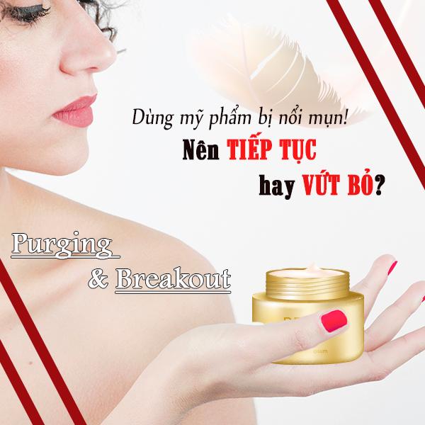 dùng mỹ phẩm gây nhiều mụn trên da thì phải làm sao