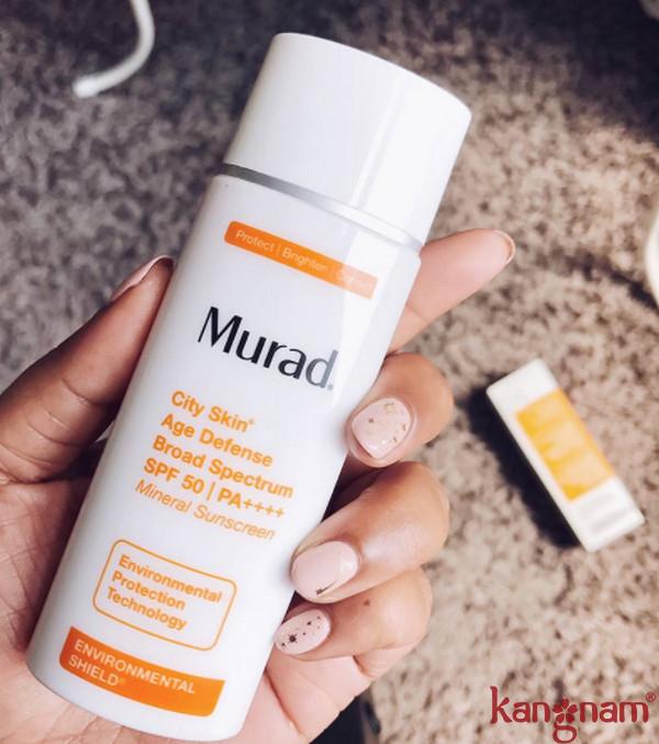 Review kem chống nắng khoáng chất Murad