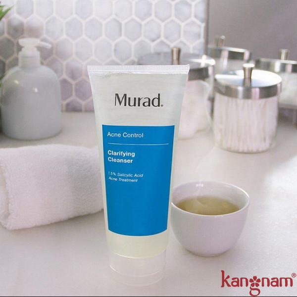 """Công dụng """"thần kỳ của sữa rửa mặt trị mụn Murad tinh dầu bạc hà"""